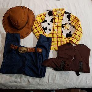 Disney Store woody costume size 4